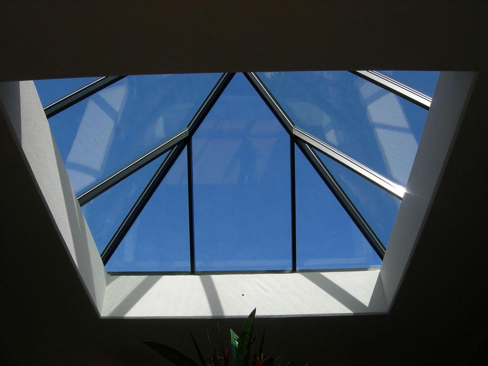 Pyramid Skylight Interior