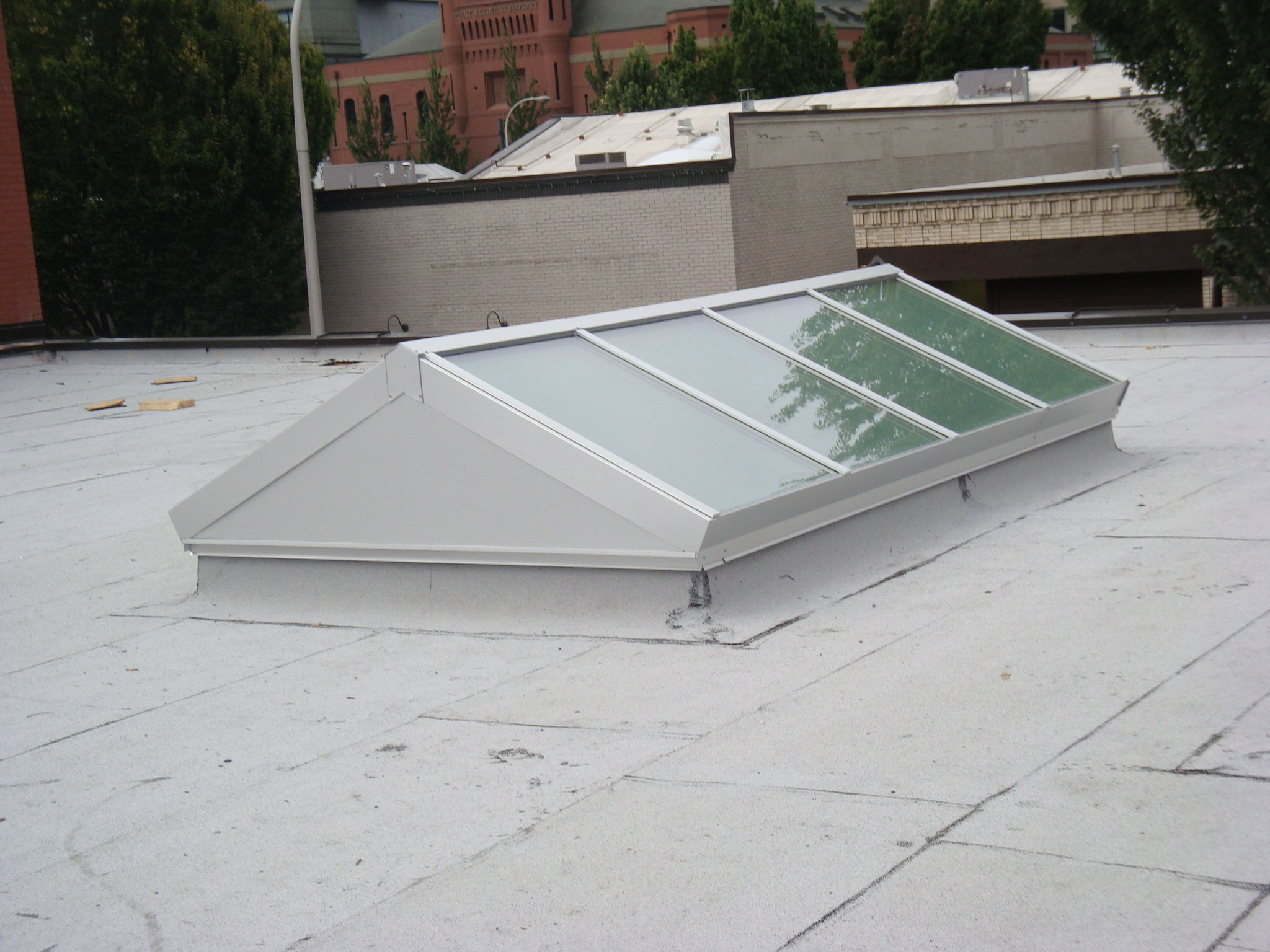 Verticle End Ridge Skylight