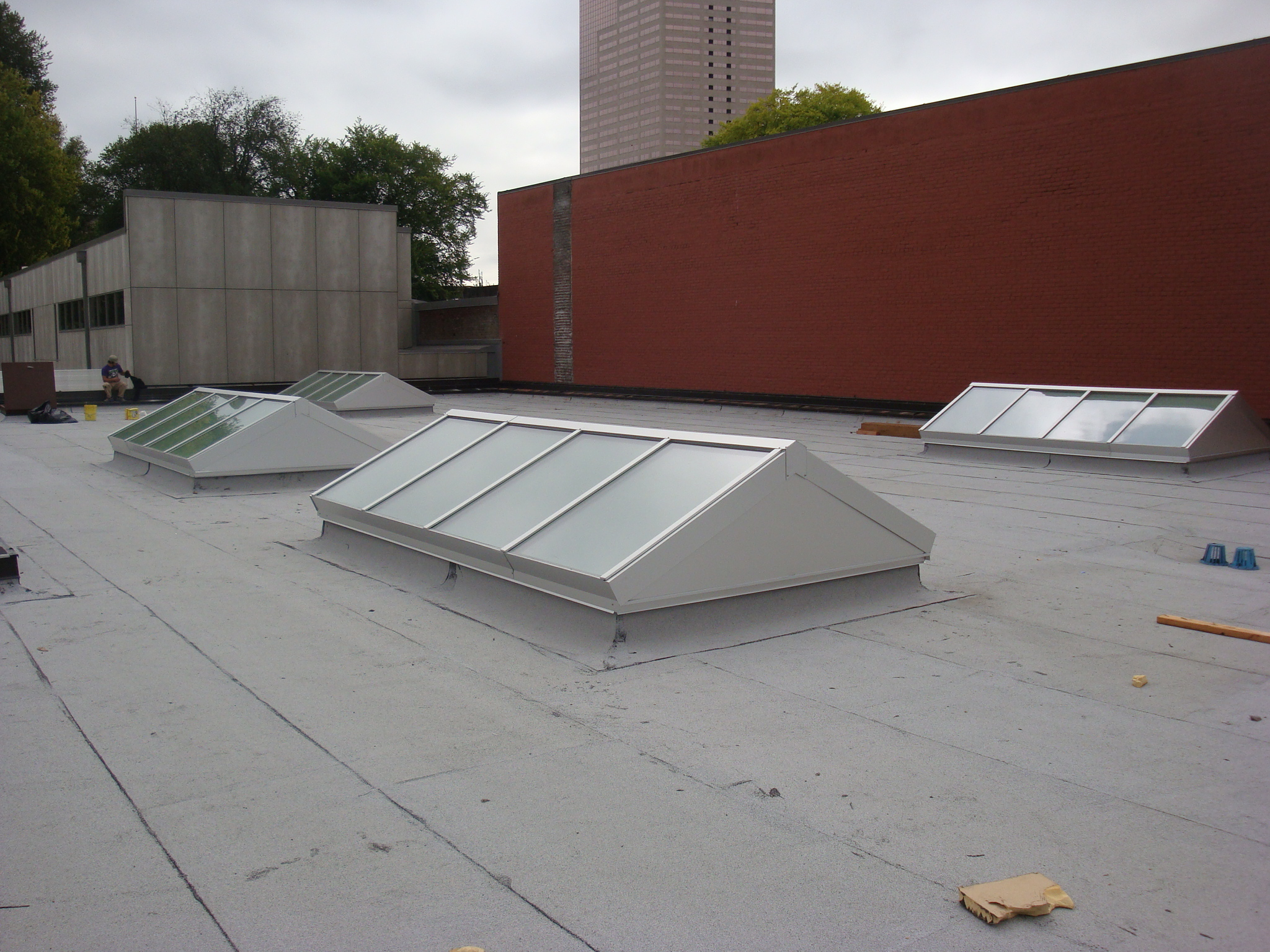 Vertical End Ridge Skylight