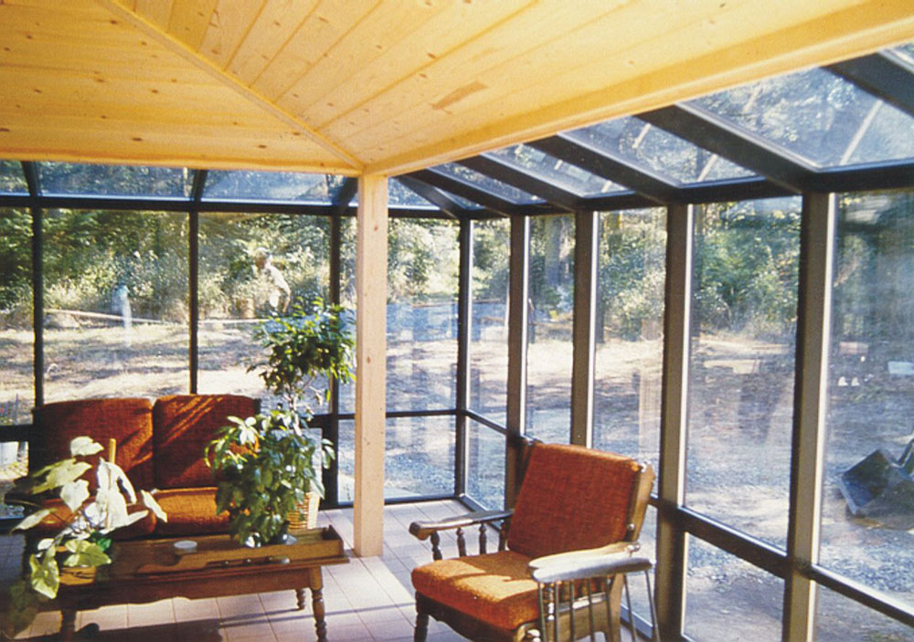 Interior View of Residential Sunroom